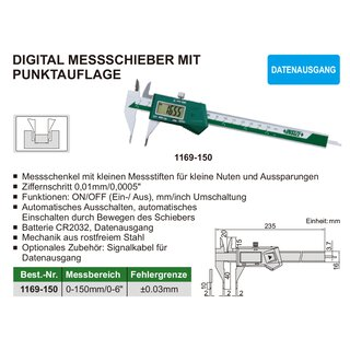 Digital Messschieber mit Punktauflage