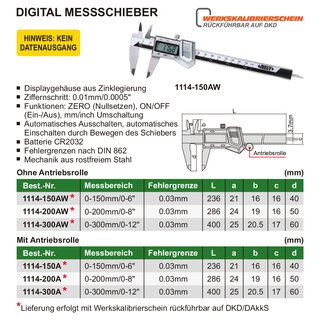 Digital Messschieber / Schieblehre